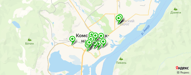 меховые ателье на карте Комсомольска-на-Амуре