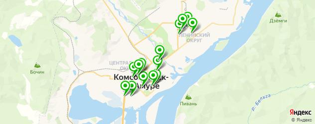 рестораны на карте Комсомольска-на-Амуре
