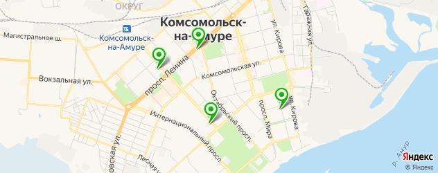 японские рестораны на карте Комсомольска-на-Амуре