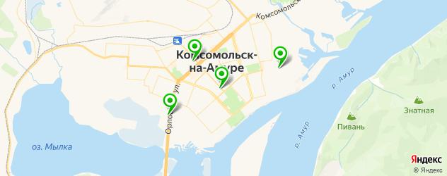 ночные клубы на карте Комсомольска-на-Амуре
