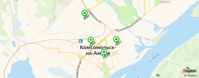 институты на карте Комсомольска-на-Амуре