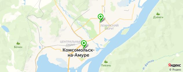 венерологические анализы на карте Комсомольска-на-Амуре