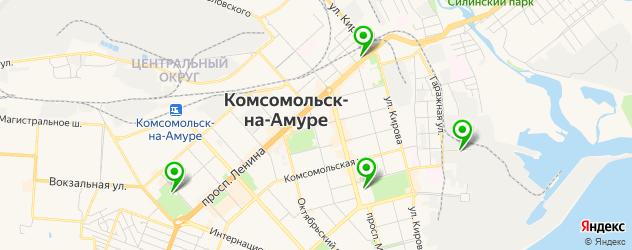 вегетарианские кафе на карте Комсомольска-на-Амуре