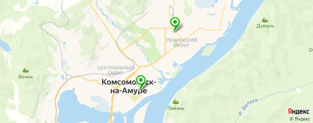итальянские рестораны на карте Комсомольска-на-Амуре