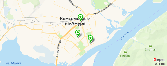 гимназии на карте Комсомольска-на-Амуре