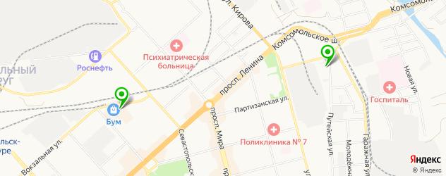 прачечные на карте Комсомольска-на-Амуре
