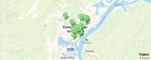 бани на карте Комсомольска-на-Амуре