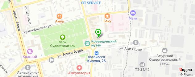 модельные агентства на карте Комсомольска-на-Амуре