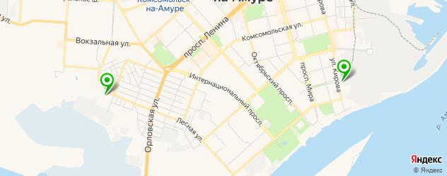 роллердромы на карте Комсомольска-на-Амуре