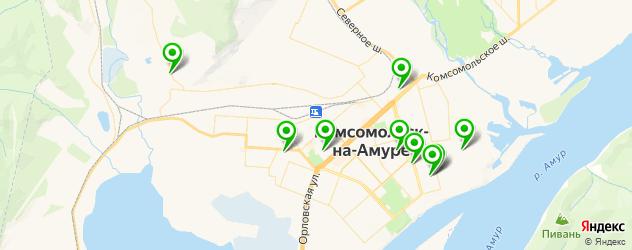 общежития на карте Комсомольска-на-Амуре