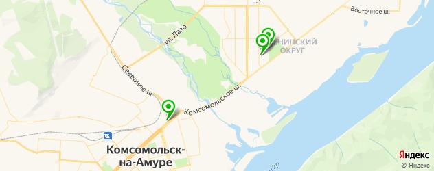 детские стоматологические поликлиники на карте Комсомольска-на-Амуре