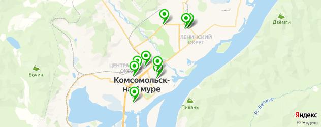 сауны с бассейном на карте Комсомольска-на-Амуре