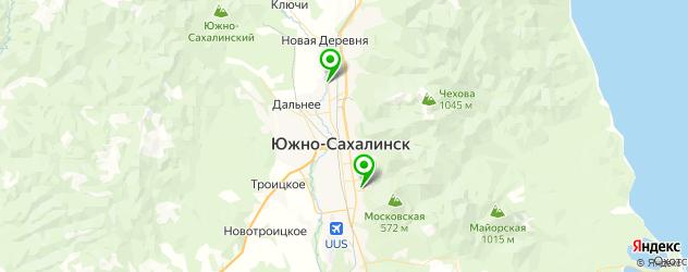 реабилитационные центры на карте Южно-Сахалинска