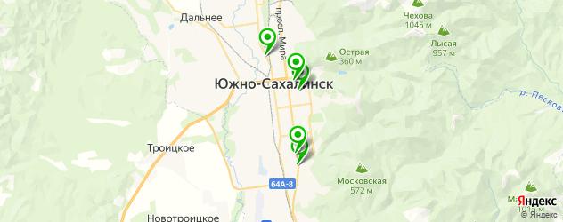 Доставка шашлыка на карте Южно-Сахалинска