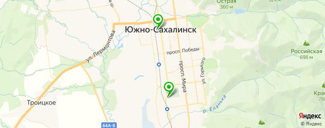 эвакуаторы на карте Южно-Сахалинска
