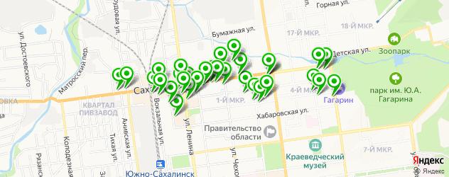 парикмахерские на карте Сахалинской улицы