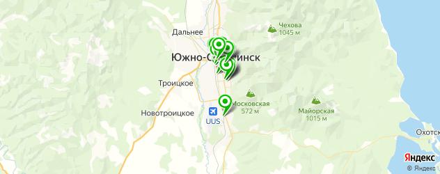 швейные мастерские на карте Южно-Сахалинска