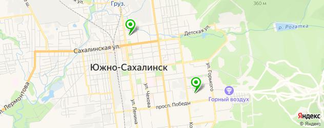 лицеи на карте Южно-Сахалинска