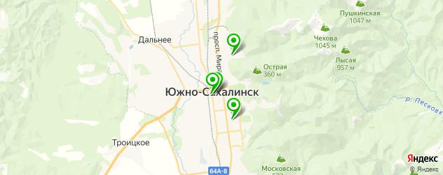 стоматологические поликлиники на карте Южно-Сахалинска