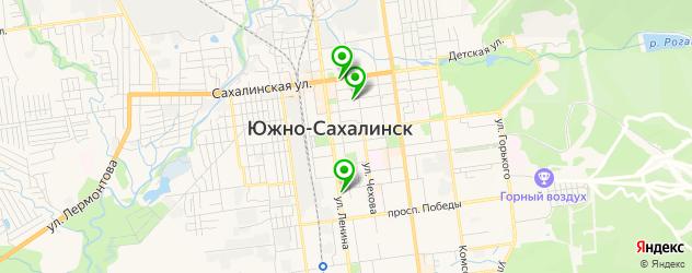 детские стоматологические поликлиники на карте Южно-Сахалинска