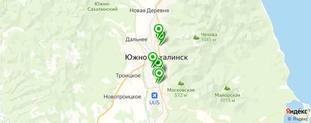 авторазборки на карте Южно-Сахалинска