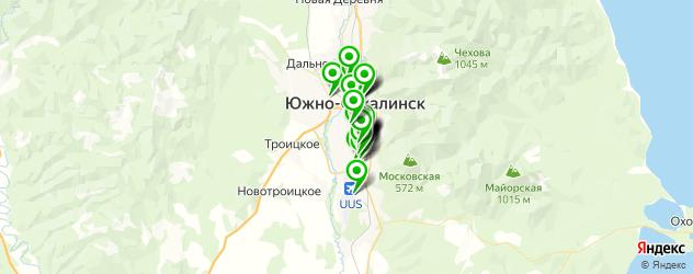автосервисы на карте Южно-Сахалинска