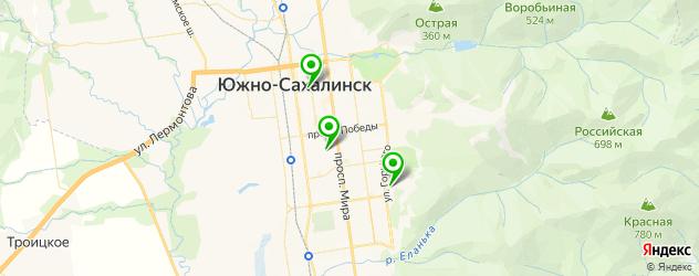 академии на карте Южно-Сахалинска