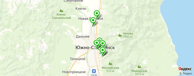НИИ на карте Южно-Сахалинска