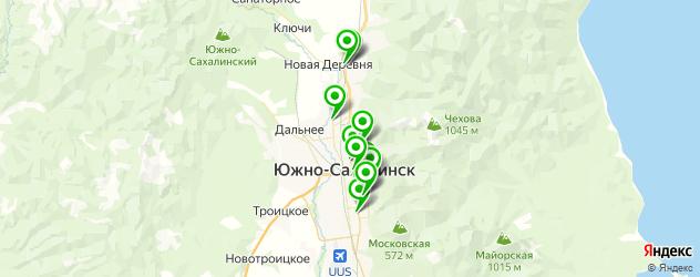поликлиники на карте Южно-Сахалинска