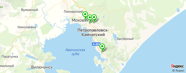 общежития на карте Петропавловска-Камчатского