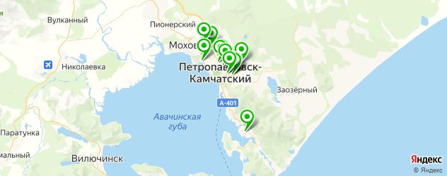 школы танцев на карте Петропавловска-Камчатского