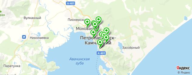 диагностические центры на карте Петропавловска-Камчатского