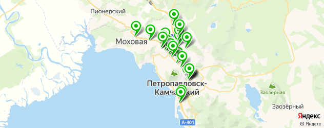 Красота на карте Петропавловска-Камчатского