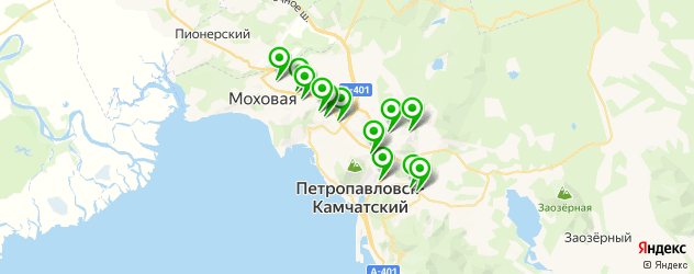 Доставка роллов на карте Петропавловска-Камчатского