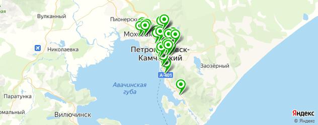 стоматологические клиники на карте Петропавловска-Камчатского