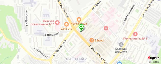боди-арты салон на карте Петропавловска-Камчатского