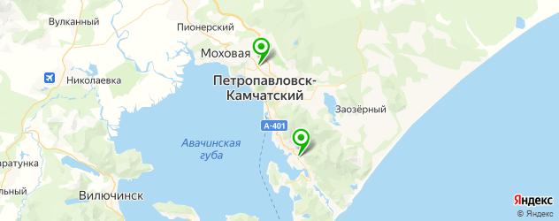 роддома на карте Петропавловска-Камчатского