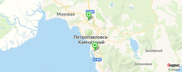 женские консультации на карте Петропавловска-Камчатского