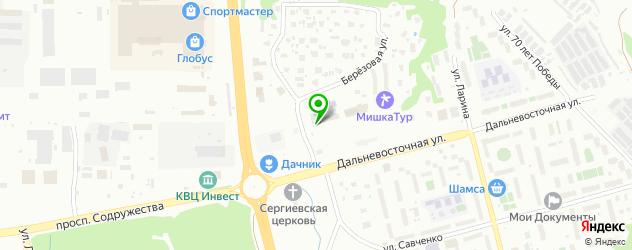 пекарни на карте Петропавловска-Камчатского