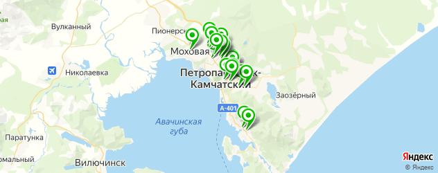 АЗСЫ на карте Петропавловска-Камчатского
