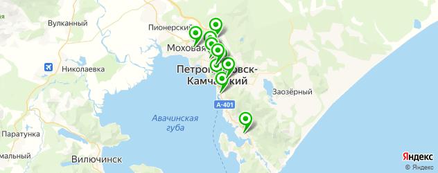автошколы на карте Петропавловска-Камчатского