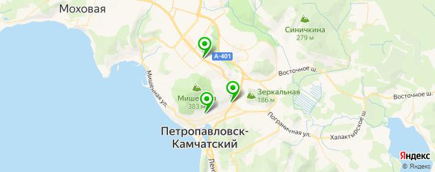 академии на карте Петропавловска-Камчатского
