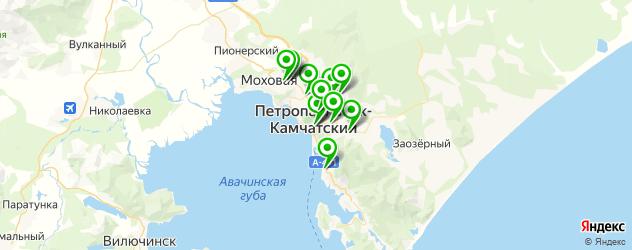 спортивные школы на карте Петропавловска-Камчатского