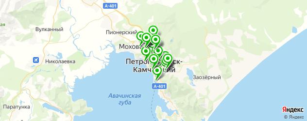 мотосалоны на карте Петропавловска-Камчатского