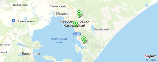 театры на карте Петропавловска-Камчатского