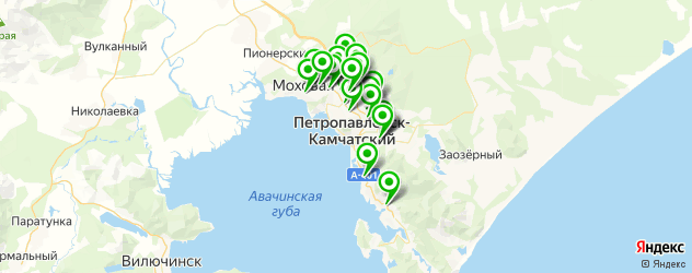 магазины автоаксессуаров на карте Петропавловска-Камчатского