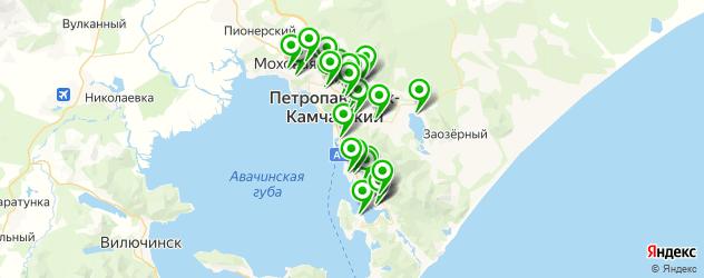 школы на карте Петропавловска-Камчатского