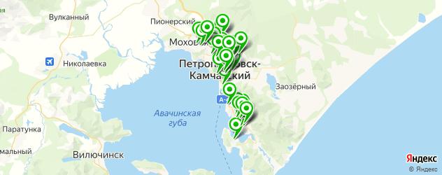 детские сады на карте Петропавловска-Камчатского