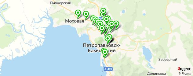 студии маникюра на карте Петропавловска-Камчатского