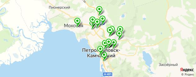 фитнес-клубы на карте Петропавловска-Камчатского